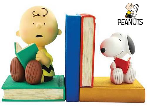 Peanuts-Charlie-Brown-and-Snoopy-Bookends
